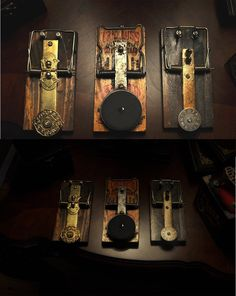 3 antique rat trap footswitch by BUTL950