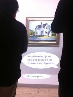 """Hope you can understand what Statler and Waldorf (""""incognito"""" special guests) are chatting in French about Hopper Exhibition in Paris"""