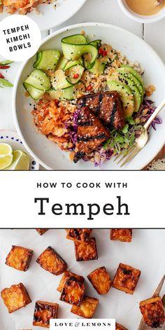 Healthy Recipes, Vegetarian Recipes, Cooking Recipes, Tempeh Recipes Vegan, Beef Recipes, Healthy Vegetarian Recipes, Breakfast, Vegan Recipes, Amor