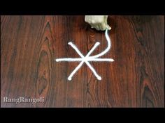Simple Daily kolams with 3 dots