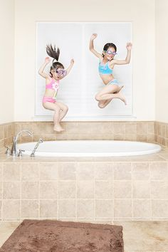 Check out these amazing images. A photo journal of 2 sisters *do not try this at home