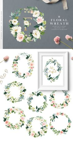 Ethereal Blush-Florals Graphic Set - Illustrations - 6 SO WHAT DO YOU Floral Geometry Flower Flowers Florals header Floral uppercase designs(black/gold)The Ampersand Watercolor Gold Watercolor backgrounds Watercolor Backgrounds, Watercolor Flowers, Watercolor Art, Floral Frames, Wedding Clip, Rose Wedding, Selfies, Free Graphics, Arte Floral
