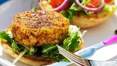 If you are celebrating National Burger Day.why not do it with a delicious Veggie Burger! Check out these 100 Fantastic Veggie Burger Recipes! Burger Recipes, Gourmet Recipes, Vegetarian Recipes, Burger Food, Hamburger Vegetarien, Vege Burgers, Chickpea Burger, Foods That Contain Protein, Delicious Burgers
