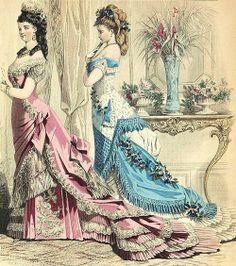 1879 Frank Leslie Fashion Illustration