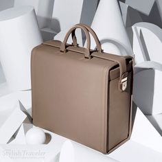 Victoria Beckham spring 2011 travel bag - Fossil buffalo travel bag with pale gold hardware, nappa lined interior and french binding detail.