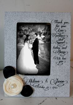 Thank you frame with wedding photo. @Etsy