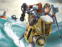Waterbike Racing Illustration