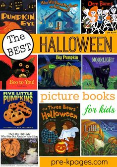 Pre-K books to read. Best Halloween books for kids. The best Halloween children's books. Teach academic skills with fun read-alouds in your classroom. Halloween Theme Preschool, Halloween Books For Kids, Halloween Pictures, Halloween Activities, Autumn Activities, Halloween Themes, Halloween Crafts, Halloween 2015, Spooky Halloween