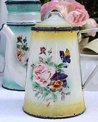 gorgeous antique coffee pot - French Garden House