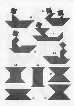 Figuras Tangram con soluciones 4a