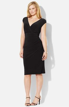 Lauren Ralph Lauren Matte Jersey Dress (Plus) available at #Nordstrom