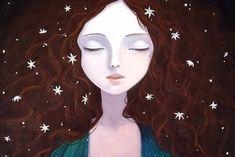 kvinne med stjerner i håret