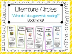 This freebie comes from my Literature Circles: Job Sheets and More pack. These bookmarks are a very helpful tool in teaching students the various literature circle jobs. 2nd Grade Ela, Third Grade Reading, Fourth Grade, Second Grade, Grade 3, Teaching Literature, Teaching Reading, Guided Reading, Teaching Ideas