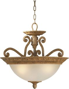 Three Light Convertible Pendant with Umber Shade in Chestnut