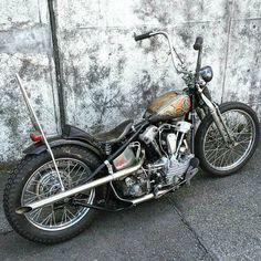 The sunny side of life. — It's no secret I admire the Japanese culture,. Bobber Bikes, Vintage Motorcycles, Custom Motorcycles, Custom Bikes, Harley Davidson Knucklehead, Harley Bobber, Harley Davidson Motorcycles, Chopper Motorcycle, Bobber Chopper