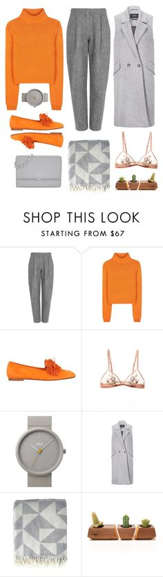 """Orange Crush #1424"" by solespejismo ❤ liked on Polyvore featuring Acne Studios, Aquazzura, Braun, SET, Ratzer, Dot & Bo and Michael Kors"