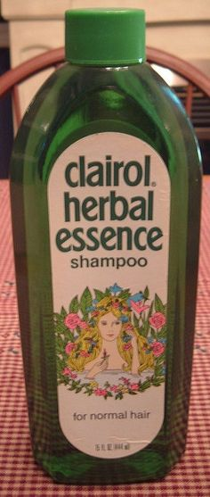 Clairol Herbal Essence Shampoo!! When Mother bought this for us the first time I thought I was completely grown up. I was in 7th grade :)