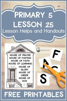 Great LDS lesson handouts and helps for teaching Primary 5 Lesson 25: The Kirtland Temple is Constructed