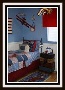 Ideas for B's big boy bedroom...he's obsessed with planes, trains and the moon! ;)