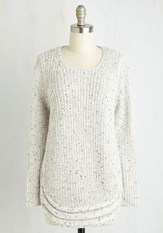 Cozy Is As Cozy Does Sweater - Solid, Casual, Long Sleeve, Fall, Winter, Knit, Better, Scoop, Mid-length, Grey