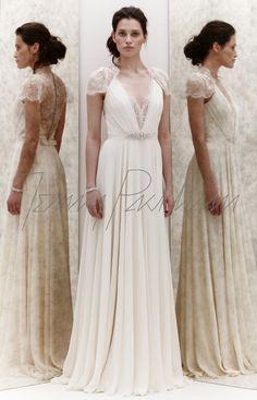 Jenny Packham Dentelle dress- It's Princess Kate's green dress in ivory