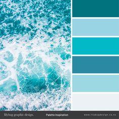 Ocean Color Palette, Beach Color Palettes, Color Schemes Colour Palettes, Ocean Colors, Blue Colour Palette, Wall Colors, House Colors, Blue Color Pallet, Sea Blue Color
