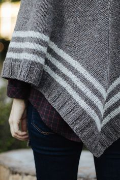 Sample knit with Stormcloud and Snowbound from Brooklyn Tweed Shelter.