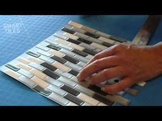Peel and Stick Smart Tiles Backsplash Installation Video – Interlocking Tiles | Murano Metallik - YouTube