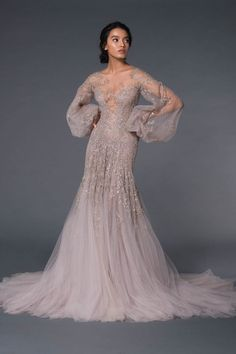 Pretty Dresses, Beautiful Dresses, Melbourne Fashion, Fantasy Dress, Gowns With Sleeves, Couture Collection, Bridal Looks, Dream Dress, Festival Fashion