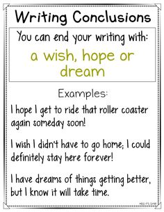 Are your students having a hard time ending their personal narrative or expository writing pieces? These writing conclusions anchor charts are helpful with providing a variety of ways to close their writing for their reader! Get 16 different ways to end your writing in an interesting and intriguing way! #writingworkshop #anchorcharts #writingconclusions #narrative #expository #conclusions Writing Strategies, Book Writing Tips, Writing Lessons, Teaching Writing, Writing Skills, Writing Ideas, Comprehension Strategies, Writing Resources, Writing Prompts