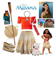 "What Moana from ""Moana"" might wear in modern times! Disney Bound Outfits Casual, Moana Outfits, Cute Disney Outfits, Disney Dress Up, Disney Themed Outfits, Cute Outfits, Princess Inspired Outfits, Disney Princess Outfits, Disney Inspired Fashion"