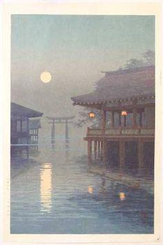 ITO Yuhan -- Moon Over Miyajima  Ukiyo-e Gallery