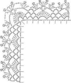 Crochet Border Patterns, Crochet Doily Diagram, Crochet Lace Edging, Crochet Chart, Crochet Trim, Crochet Doilies, Crochet Flowers, Easy Crochet Socks, Crochet Table Topper