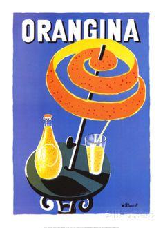 Orangina Posters by Bernard Villemot at AllPosters.com