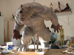 Rhino Sculpture process by loqura