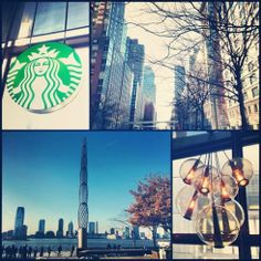 Lower Manhattan – Starbucks and the City Lower Manhattan, World Trade Center, Starbucks, New York City, Liberty, The Neighbourhood, Nyc, Park, Political Freedom