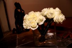 Bridesmaids & Maid of Honor white rose bouquets