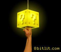 Super Mario Question Block Lamps | Geek Decor