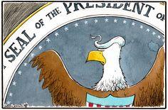 Camley Cartoon on Donald Trump and the US Presidential race     donald trump political cartoon