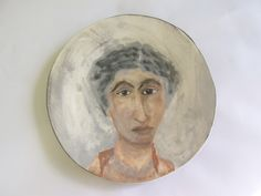 Fayum-inspired portrait from the Portraits and Faces series - Clementina Ceramics