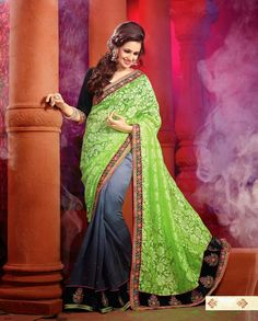 Gorgeous Embroidered Party Wear Designer Indian Saree