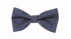 Clip On Bow Ties, Boys Bow Ties, Navy Blue, Blue And White, Dots, Awesome, Metal, Pattern, Cotton