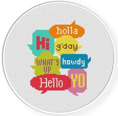 FREE for Aug 1st 2014 Only - Cute Greetings Cross Stitch Pattern