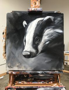"""Original art by California artist, Aimée Rolin Hoover: """"Badger"""" 
