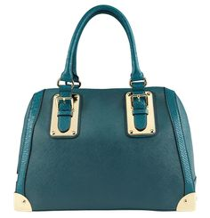"Stand out with the stunning ALDO ""Adelaide"" Barrel Bag in teal this spring!"