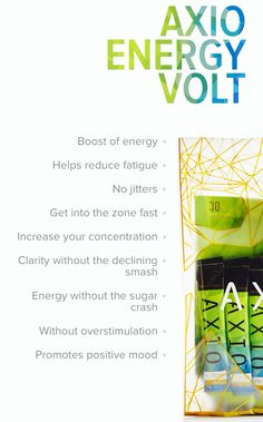 AXIO Charged Volt Guilt free energy! For more information go to shadthompson.lifevantage.com or email shad_thompson@hotmail.com