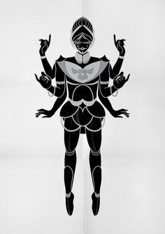 Mythical Goddesses by Egor Kraft, via Behance