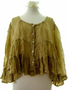 Magnolia Pearl Tiered Tunic Vintage Gold
