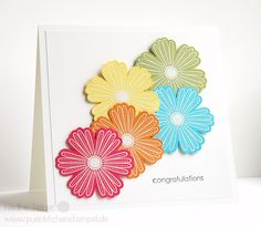 Stampin' Up! Birthday Card; Manche mögens bunt #stampinup