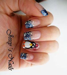 #christmas #nails #uñas #navideñas pinguino